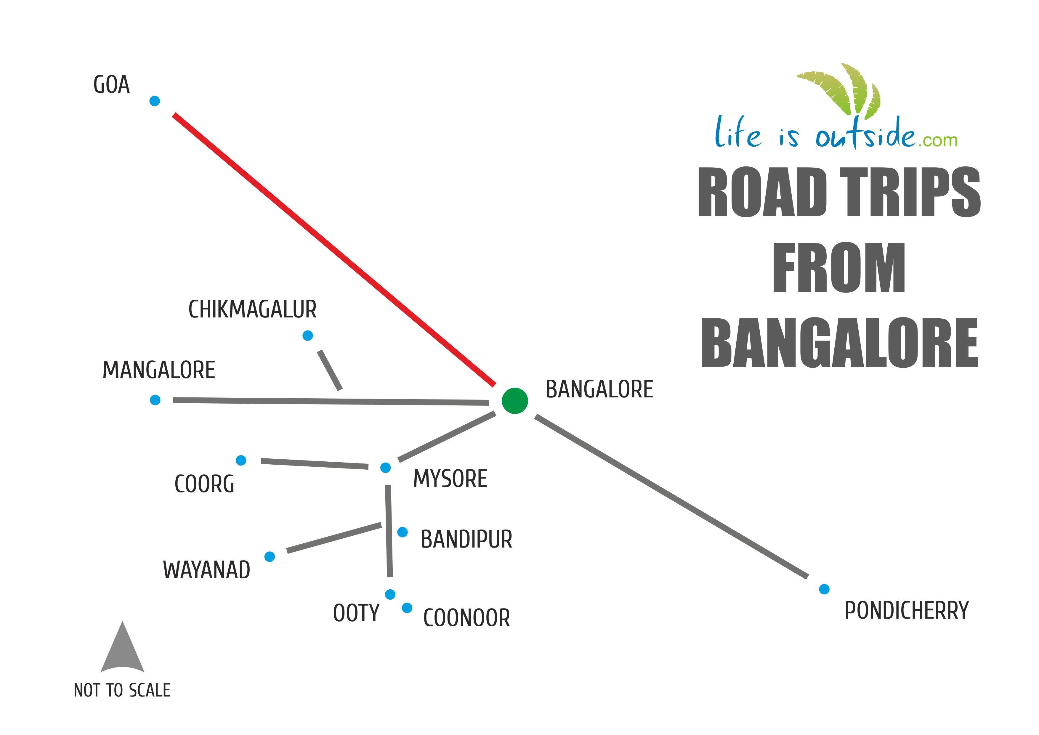 bangalore-goa route map